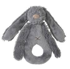 Deep Grey Rabbit Richie Rattle by Happy Horse