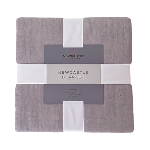 Newcastle Grey Oversized King Luxury Bamboo Bed Blanket