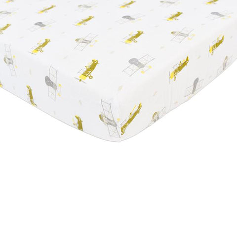 Airplane Animals Crib Sheet