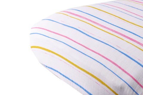 Watercolor Stripe Crib Sheet