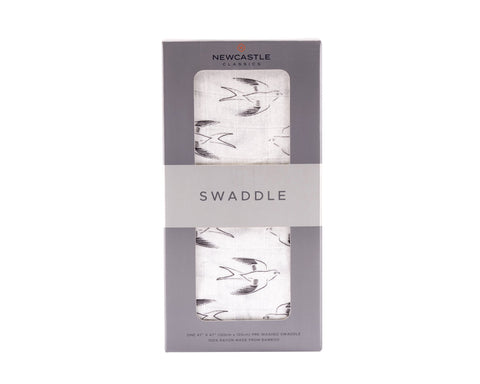 Sparrows Bamboo Muslin Swaddle