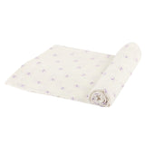 Watercolor Star Bamboo Muslin Swaddle