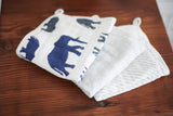 In the Wild Elephant Washcloth Set of 3