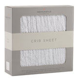 Herringbone Grey Crib Sheet