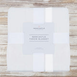 Pure White Bamboo Newcastle Throw Blanket