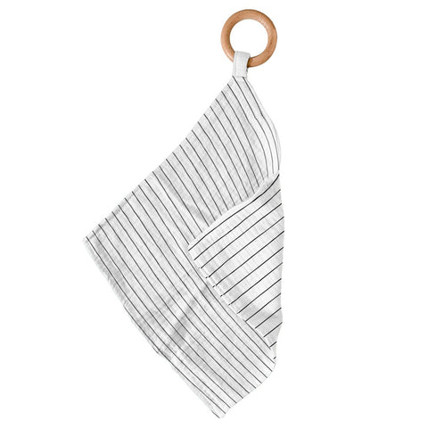 Pencil Stripe Bamboo Blankie Teether
