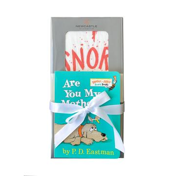 SNORT Bamboo Swaddle Small Book Gift Set