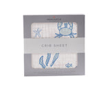 Ocean Friends Cotton Muslin Crib Sheet