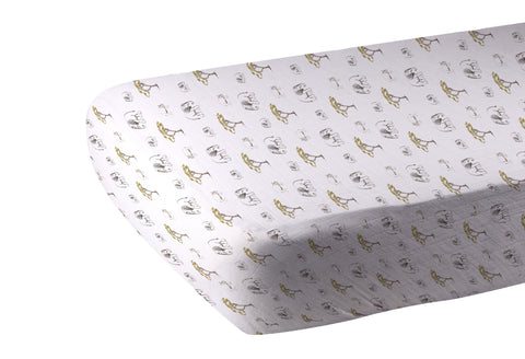Rhinos and Elephants Crib Sheet