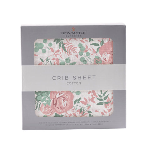 Desert Rose Cotton Muslin Crib Sheet