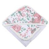 Desert Rose Hooded Towel and Washcloth Set