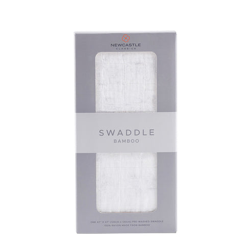 Pure White Bamboo Swaddle