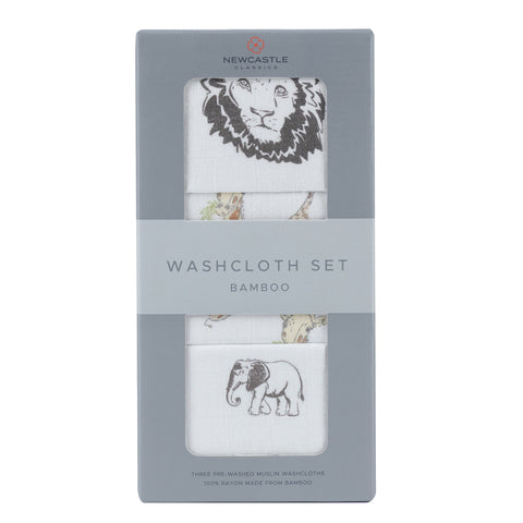 On The Savannah Washcloth Set 3pk