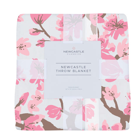 Cherry Blossom Bamboo Newcastle Throw Blanket