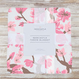 Cherry Blossom Bamboo Muslin Throw Blanket