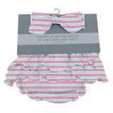 Candy Stripe Ruffle Bamboo Bloomer Headband Set