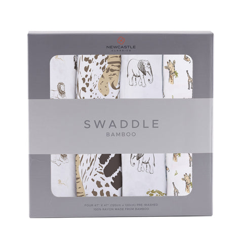 On The Savannah Bamboo Muslin Swaddle 4PK