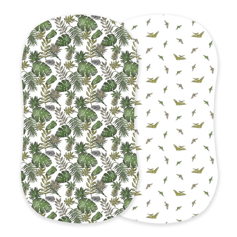 Jurassic Forest and Pteranodon Bassinet Sheets