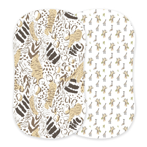 Animal Print and Hungry Giraffe Bamboo Bassinet Sheets