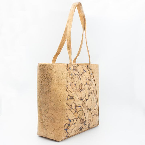 Cork Leather has green credentials and is durable.  Cork is 100 per cent natural, made from a renewable source, and is fully recyclable.