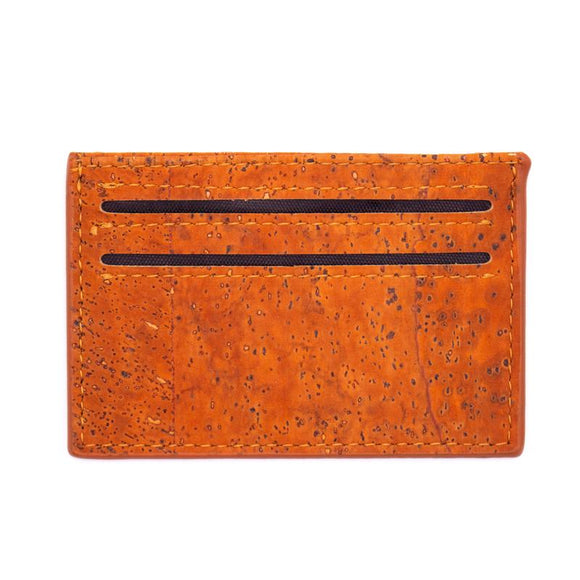 Cork Wallet Card Holder Burnt Orange