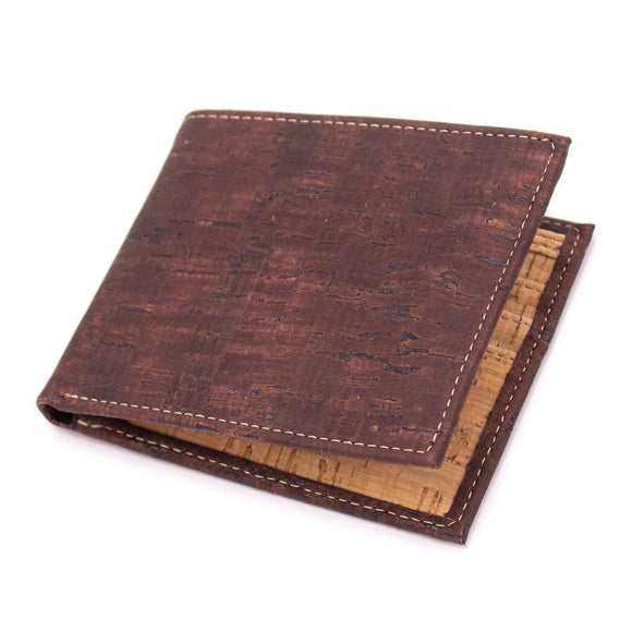 Vegan Wallet Slimline in Brown Cork Leather