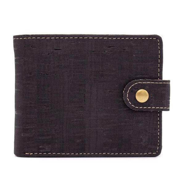 Wallet Slimline in Black Cork Leather