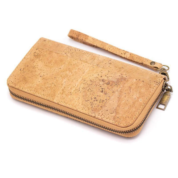 Vegan Leather Zip up Purse made from Natural Cork