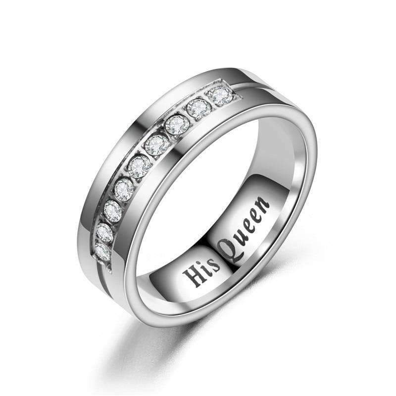 Titanium Romantic Couple Ring