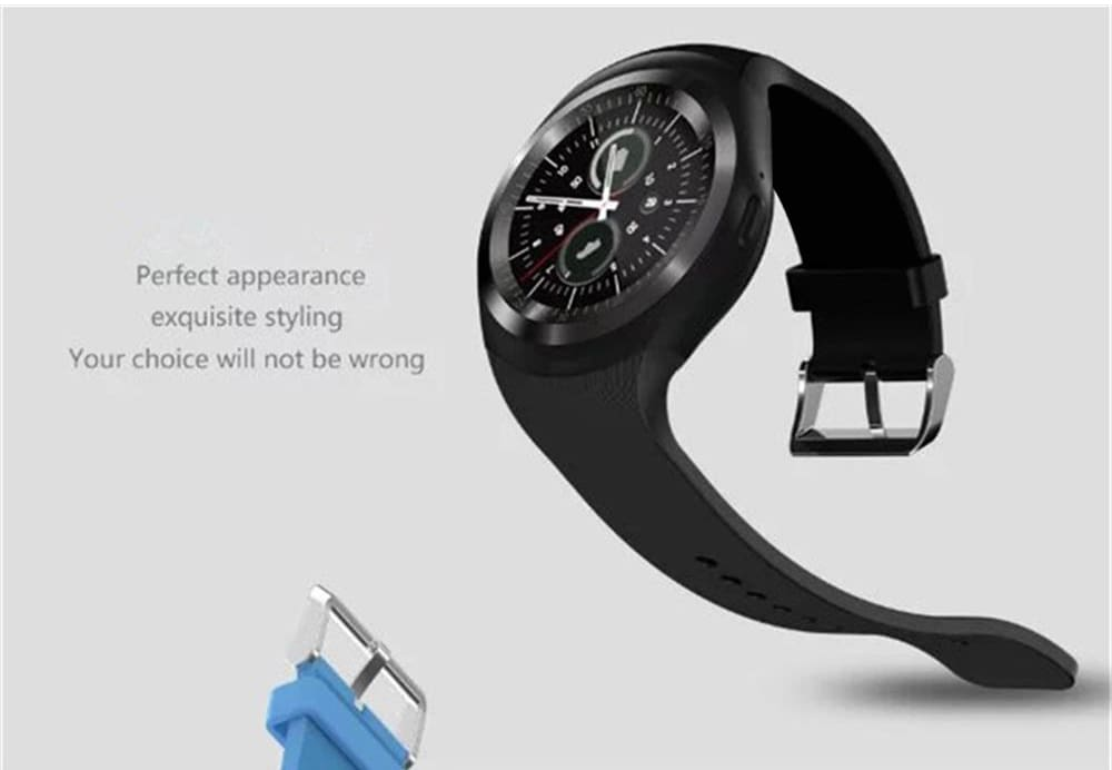 Bluetooth Y1 smart watches for men/women Relogio Android Smartwatch GSM/  Phone Call/ Sim/ TF Camera/ Pedometer/ Sleep monitor