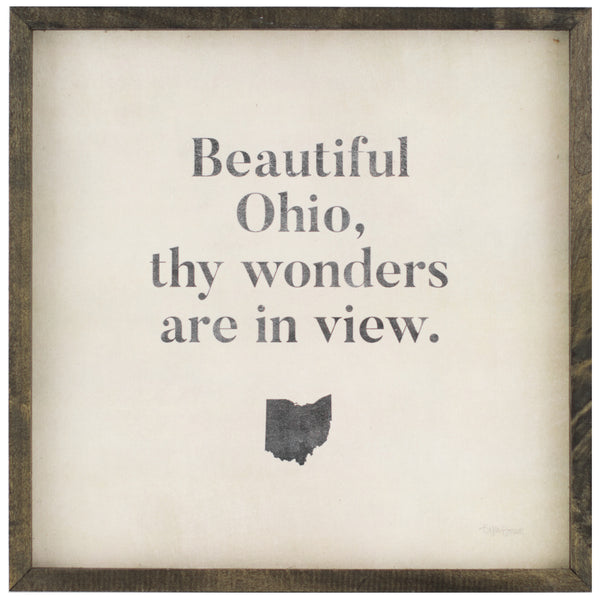 state sayings | wood-framed signs