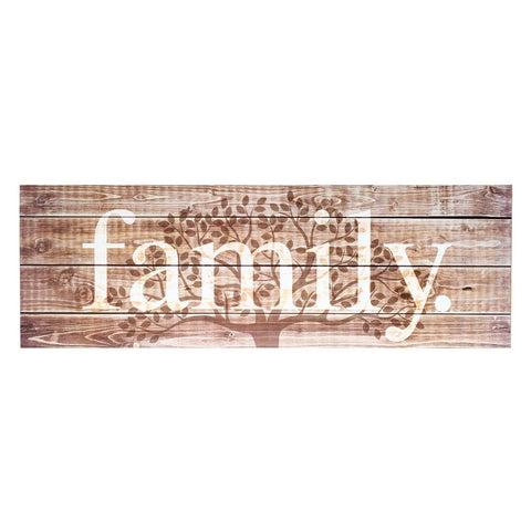 family tree | wood-finish plaque