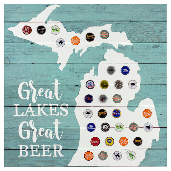 great lakes, great beer | plaque for bottle caps