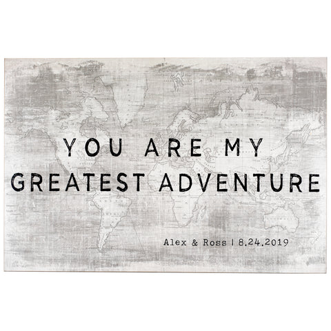 greatest adventure | personalized name plaque