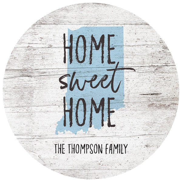 home sweet home indiana | personalized name plaque