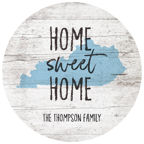 home sweet home kentucky | personalized name plaque