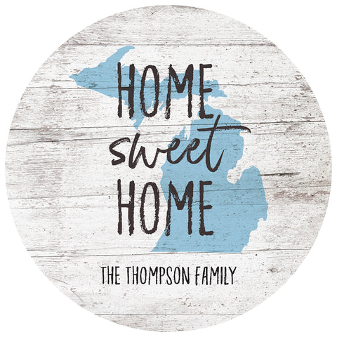 home sweet home states | personalized name plaque