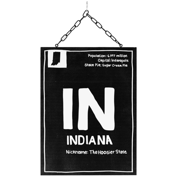 indiana information | plaque