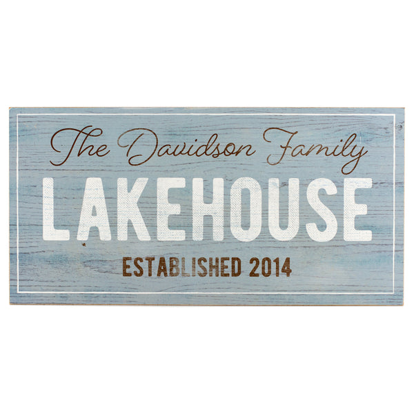 lakehouse established | personalized name plaque