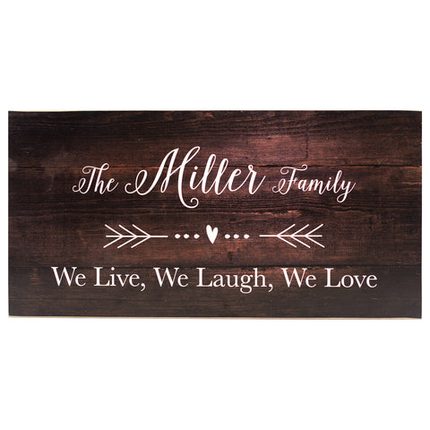 live laugh love | personalized name plaque
