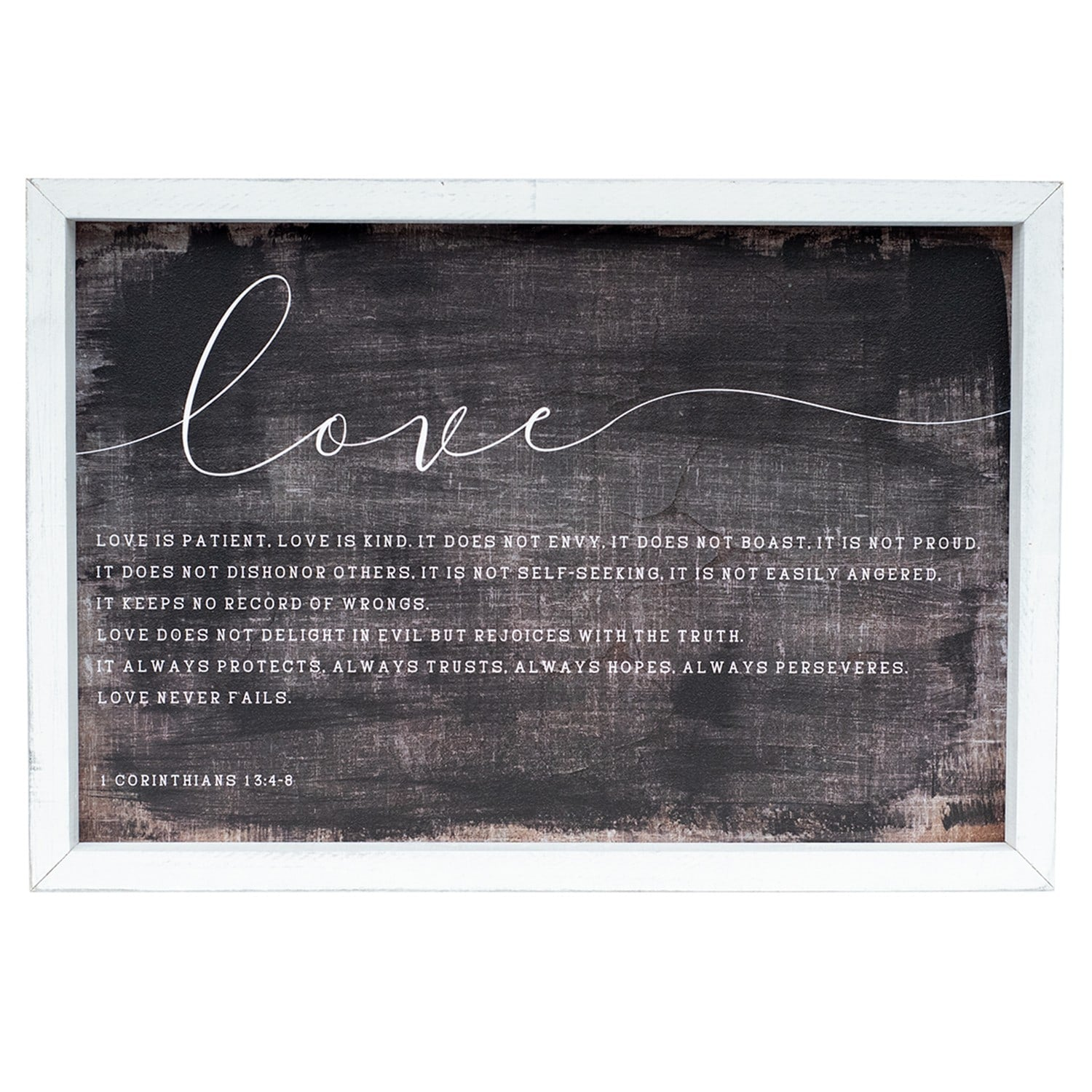 love is patient | wood framed sign
