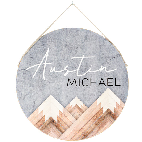 mountains | personalized name plaque