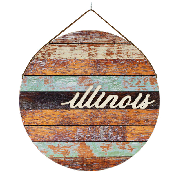 illinois | round plaque