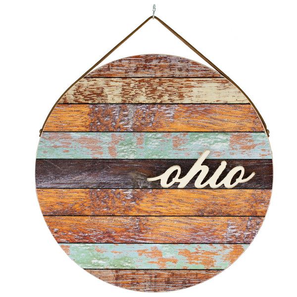ohio | round plaque