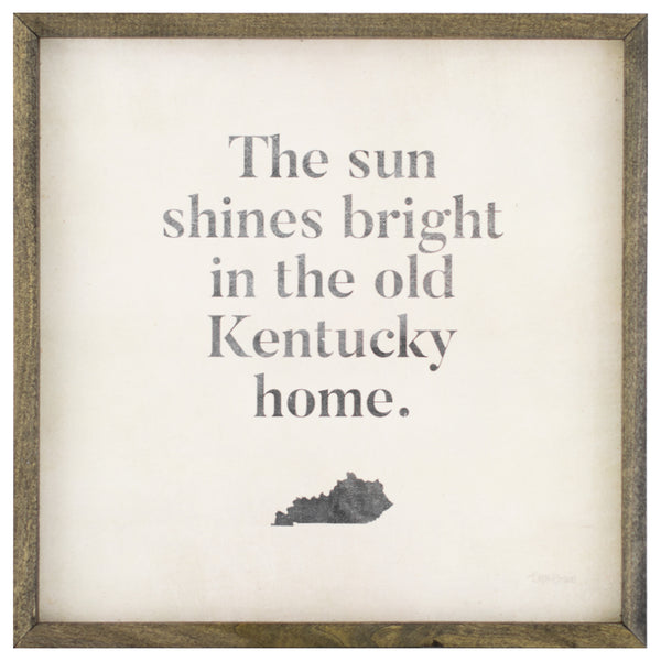 kentucky home | wood-framed sign