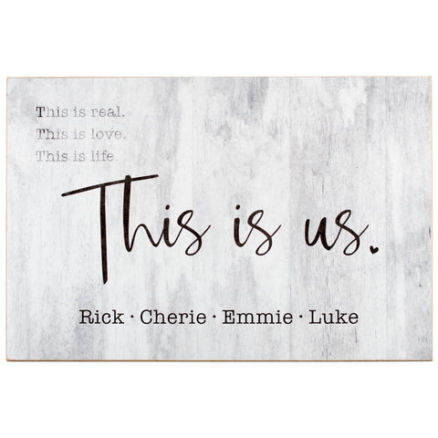 this is us | personalized name plaque