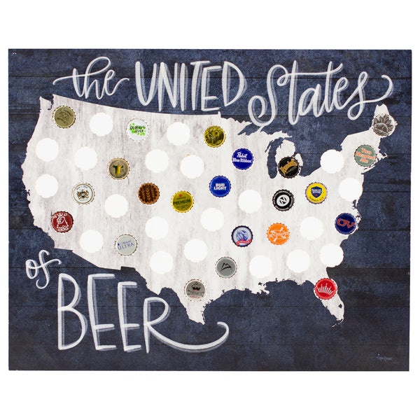 united states of beer | plaque for bottle caps