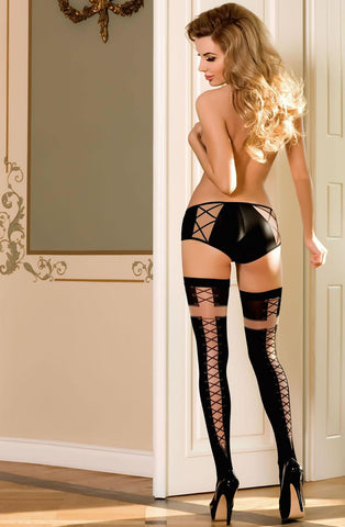 Roza Efi Hold Ups Lingerie Set - MostDesirable.co.uk