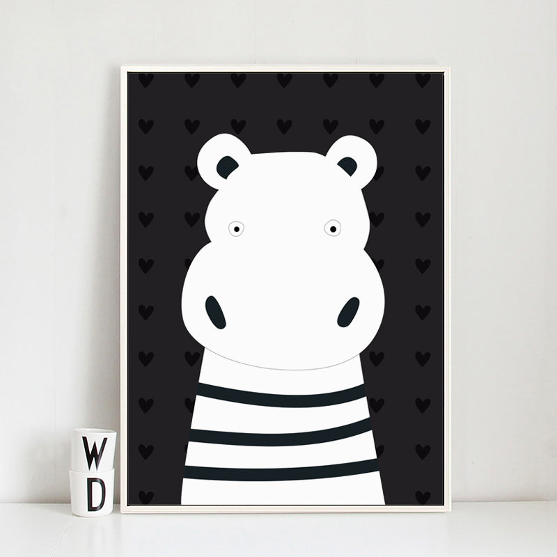 Monochrome Cartoon Animals