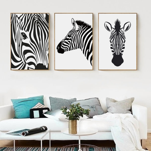 Abstract Zebra Art